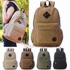 Bag Canvas Men's Vintage Backpack Rucksack Laptop Shoulder Travel Camping Bag BK