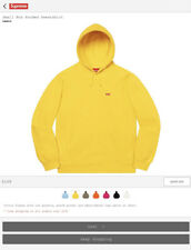Supreme Small Box Hooded Sweatshirt In Yellow. Size L. NWT. Deadstock.