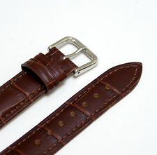 18mm Brown Genuine Leather Watch Strap Band Made for Fossil