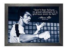 Bruce Lee 67 Hong Kong American Actor Film Director Martial Arts Quote Poster