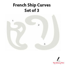 FRENCH SHIP CURVES SET OF 3 Rulers Technical Drawing Stencil Template Fashion