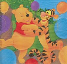 2 Serviettes en papier Winnie L'ourson et ses amis Paper Napkins Pooh Cartoon