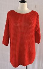 Topshop Women's Navy Blue Chunky Knit Pullover Sweater Sz. 2