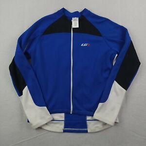 Louis Garneau Tirreno Thermal Jersey Adult 3XL XXXL Blue White Full Zip Cycling