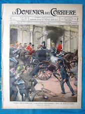 La Domenica del Corriere 24 marzo 1912 Attentato Savoia, Roma - Derna
