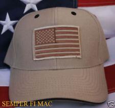 TACTICAL HAT CAP USA US FLAG PIN TAN BORDER PATROL CIA FBI DEA POLICE SWAT