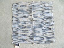 New - The Limited 100% silk handkerchief - blue stripes