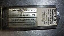 """Ridgid Genuine Parts,1-3/8"""" - 6, UNC LH, HS Steel 500B Bolt Dies, 48970 NOS"""