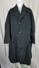 Antique Burberrys London Prorsum Wool Black Polo Peacoat Coat Mens M L Euro Made