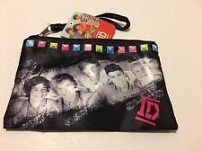 One Direction Girls Purse Makeup Tote Bag Handbag Black