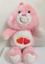 "Vintage 1983 Love A Lot 13"" Care Bear Pink Hearts Plush Original"