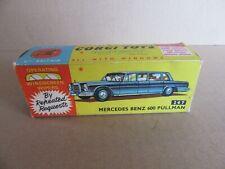 186I Vintage Corgi 247 Boite Vide pour Mercedes 600 Pullman