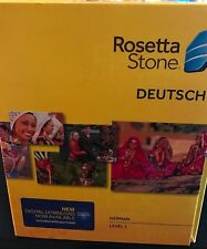 Rosetta Stone LEARN GERMAN LEVEL 1 CD SET + DIGITAL DOWNLOAD + HEADSET,V4