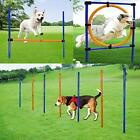 MelkTemn Dog Agility Set - Dog Agility Equipment - 1 Dog Agility Hurdle, 7 Weave