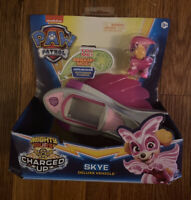 New PAW Patrol, Mighty Pups Super PAWs Skye's Deluxe Vehicle w/ Lights & Sounds