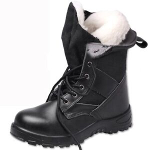 Mens Winter Warm Cotton Padded Steel Toe Safty Shoes Prevent Puncture Work Boots