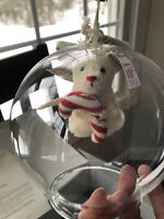 2018 Limited Edition Steiff Christmas Ornament Candy Cane Mouse Bauble 29/500