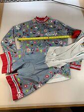 New Women cycling long sleeve jersey set mtb bike shirt racing bib pants suit N5