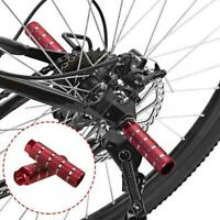 1Pair MTB Bike Bicycle Cylinder Alloy Axle Foot Pegs Bike Accessories Q