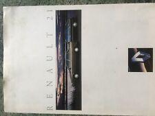 Catalogue brochure Katalog Prospekt RENAULT 21 DONT TURBO ANNEE 1992 8 Pages