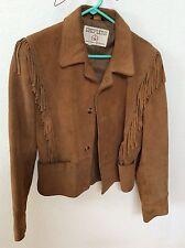 Vintage Shepler's Brown Leather Jacket Fringe Western Men's Small Made in USA