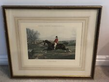 Henry Thomas Alken's 'Facing a Brook'  Framed Matted Lithograph