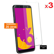 3 Pack CLEAR LCD Screen Protector Covers for Samsung Galaxy J6 2018, SM-J600