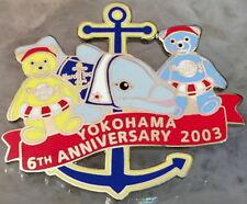 Hard Rock Cafe YOKOHAMA 2003 6th Anniversary PIN Teddy Bears Dolphin HRC #18954
