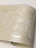 Satin Cream Acanthus Leaf Scroll Thick Cushion Textured Wallpaper Border