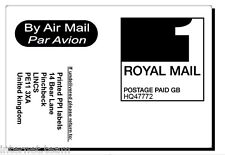 1000 Royal Mail 1st PPI Labels AIR MAIL with return address ON ROLL VAT invoice