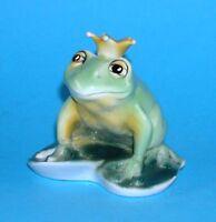 9942049-ds Porzellan Figur Froschkönig gelbe Krone Wagner & Apel Frosch 9x9cm