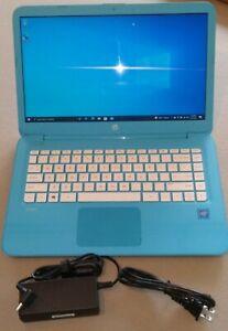 SKY BLUE HP Stream 14-cb011wm 32GB 1.60GHz N3060 INTEL Celeron 4GB RAM, CHARGER