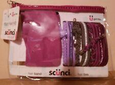 Scunci Headbands & Hair Ties Accessories Kit w/Zipper Case Purple New 2014