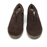 Keds Womens Swede Sneakers Size 9.5 Brown Comfort Walking Shoes Zipper Front Sli