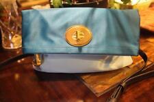 NWT Coach Amanda Satin Foldover Flap Handbag 12926 POND TEAL (PU900