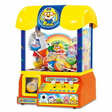 Pororo Mini Claw Machine/Toy Crane claw with gift ball&coin Korean TV Character