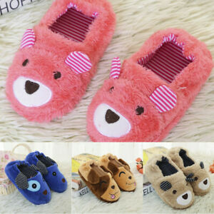 Toddler Baby Winter Warm Shoes Boys Girls Cartoon Soft-Soled Cartoon Slippers