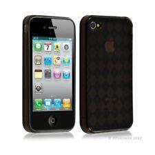 Housse étui coque en gel pour Apple Iphone 4/4S motif damier couleur noir