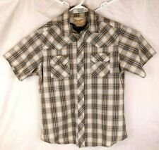 Wrangler Western Fashion Men's Short Sleeve Shirt Pearl Snaps Size Medium