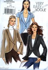Sewing PATTERN Misses Jacket Princess Seams Close Fitting Size 6-12  #8331
