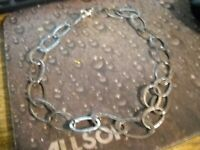 """~Silpada Oval Link 925 Sterling Silver Necklace 18"""" Long~"""
