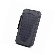 J TOHLO 15000mAh Solar Charger Outdoor Dustproof Shockproof Portable External So