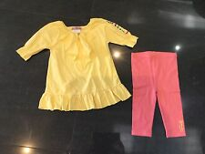 Juicy Couture New & Genuine Baby Girls Cotton 2 Piece With Juicy Logo 6/12 MTHS