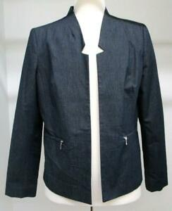 Womens Investments Indigo Blue Jacket / Blazer Size 16 NWT Washable