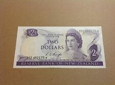 New Zealand Replacement Star Banknote's $2 Knight 9Y2 482175* - EF grade.