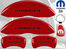 MGP Caliper Cover Black Fill on Red Paint For 2006 - 2007 Dodge Charger