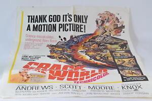 Crack In The World Original Folded Genuine Movie 1965 Film Poster Dana Andrews