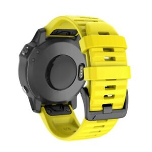 For Garmin Fenix 6X/6X Pro 26mm Quick Release Silicone Watch Band Wrist Strap