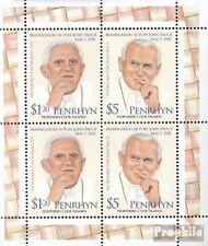 Penrhyn 668-669 hoja miniatura  (edición completa) nuevo 2012 Papa Juan Paul II.