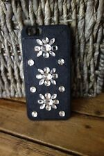 NWT MICHAEL KORS Embellished Bling Leather-Inlay iPhone 6 Cover $75